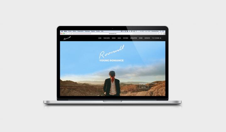 Charlotte Dion webdesigner Bruxelles webdesign Roosevelt music